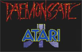 Title screen of Daemonsgate on the Atari Lynx.
