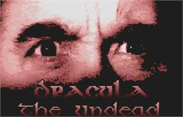 Title screen of Dracula the Undead on the Atari Lynx.