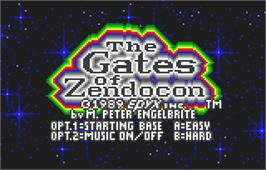 Title screen of Gates of Zendocon on the Atari Lynx.