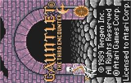 Title screen of Gauntlet: The Third Encounter on the Atari Lynx.