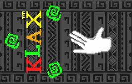 Title screen of Klax on the Atari Lynx.