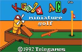 Title screen of Krazy Ace Miniature Golf on the Atari Lynx.