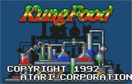 Title screen of Kung Food on the Atari Lynx.