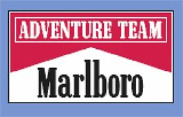Title screen of Marlboro Go! on the Atari Lynx.