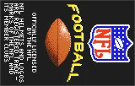 Title screen of NFL Football on the Atari Lynx.