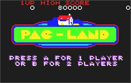 Title screen of Pac-Land on the Atari Lynx.