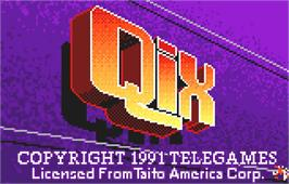 Title screen of QIX on the Atari Lynx.