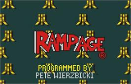 Title screen of Rampage on the Atari Lynx.