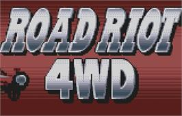 Title screen of Road Riot 4WD on the Atari Lynx.
