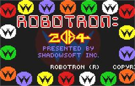 Title screen of Robotron: 2084 on the Atari Lynx.