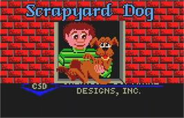 Title screen of Scrapyard Dog on the Atari Lynx.