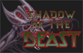 Title screen of Shadow of the Beast on the Atari Lynx.