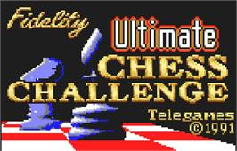 Title screen of The Fidelity Ultimate Chess Challenge on the Atari Lynx.