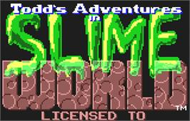 Title screen of Todd's Adventures in Slime World on the Atari Lynx.