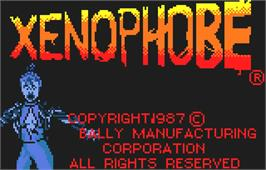 Title screen of Xenophobe on the Atari Lynx.