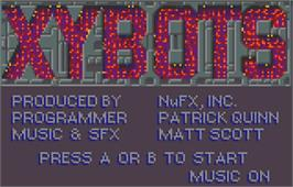 Title screen of Xybots on the Atari Lynx.