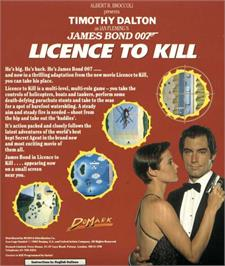 Advert for 007: Licence to Kill on the Amstrad CPC.
