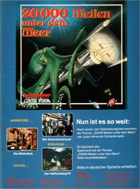 Advert for 20,000 Leagues Under the Sea on the Atari ST.