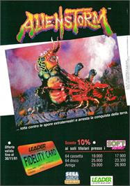 Advert for Alien Storm on the Atari ST.
