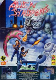 Advert for Alien Syndrome on the Sega Master System.