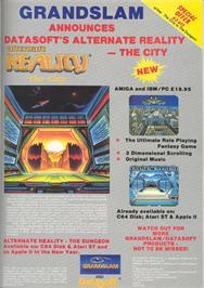 Advert for Alternate Reality: The City on the Apple II.