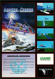 Advert for Armour-Geddon on the Commodore Amiga.