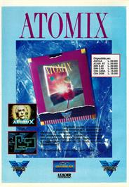 Advert for Atomix on the Commodore 64.