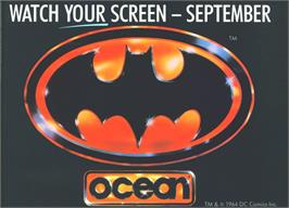 Advert for Batman: The Movie on the Commodore Amiga.