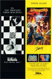 Advert for Battle Chess on the Atari ST.