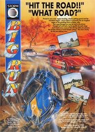 Advert for Big Run on the Atari ST.