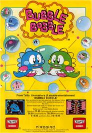 Advert for Bubble Bobble on the Atari ST.