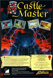 Advert for Castle Master on the Commodore Amiga.