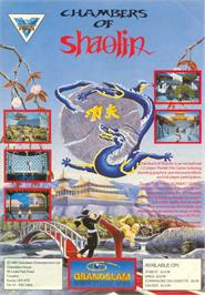 Advert for Chambers of Shaolin on the Atari ST.