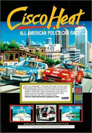 Advert for Cisco Heat: All American Police Car Race on the Commodore Amiga.