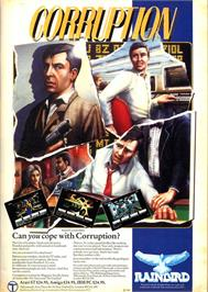 Advert for Corruption on the Commodore 64.