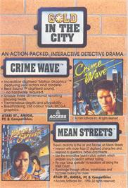 Advert for Crime Wave on the Sega Saturn.
