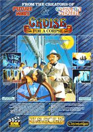 Advert for Cruise for a Corpse on the Commodore Amiga.