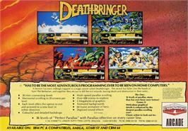 Advert for Death Bringer on the Commodore Amiga.