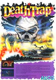 Advert for Death Trap on the Atari 2600.