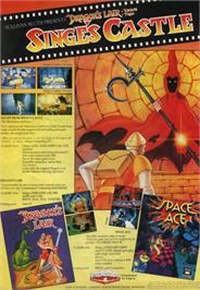 Advert for Dragon's Lair 2: Escape from Singe's Castle on the Atari ST.
