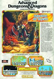 Advert for Dragons of Flame on the Commodore Amiga.