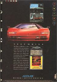 Advert for Duel: Test Drive 2 on the Atari ST.