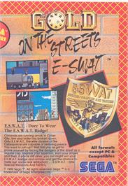 Advert for E-SWAT: Cyber Police on the Atari ST.