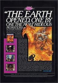 Advert for Elvira 2 on the Atari ST.
