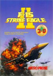 Advert for F-15 Strike Eagle 2 on the Atari ST.