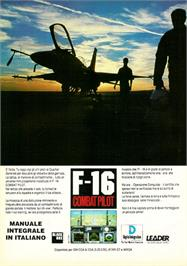 Advert for F-16 Combat Pilot on the Atari ST.