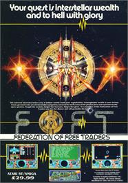 Advert for Federation of Free Traders on the Atari ST.