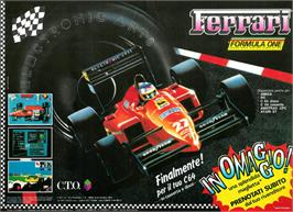 Advert for Ferrari Formula One on the Commodore 64.