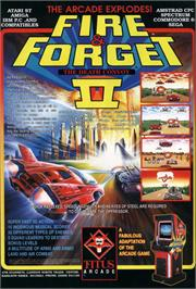 Advert for Fire and Forget 2: The Death Convoy on the Commodore 64.