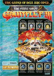 Advert for Gauntlet III on the Commodore Amiga.